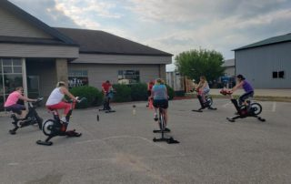 spin bike class outdoors